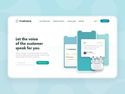 TrustVoice - Website project marketing business startup vector illustration design ui graphic design ux web design celerart