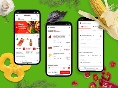 Zeezu - Website/UI/UX design project business delivery grocery online ecommerce illustration graphic design vector design ux ui web design celerart