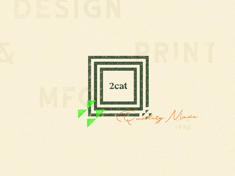 2+cat+ly Design - Texture print cat two distress brange vintage stamp texture design