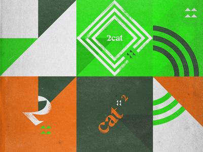 2catly Design Brand Assets identity branding texture design illistration geometric