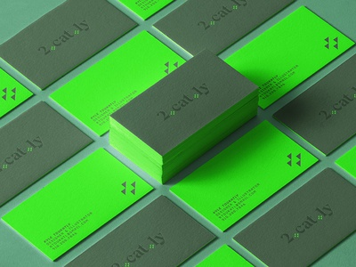 2catly Design Business Cards geometric business cards branding design
