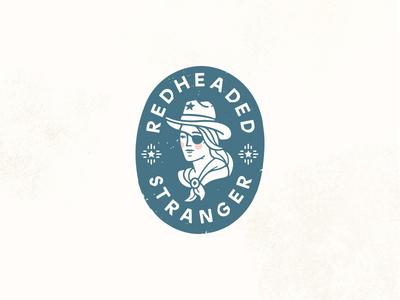 Redheaded Stranger vintage cowgirl tacos nashville restaurants marks illustration design