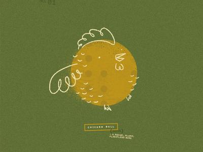 Chicken Ball Doodle ball chicken doodle texture design illustration