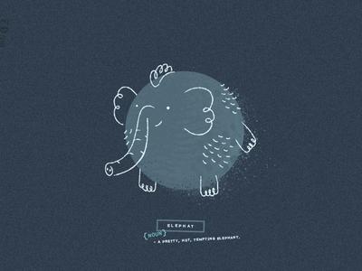 Elephat Doodle animal elephant doodle design texture illustration