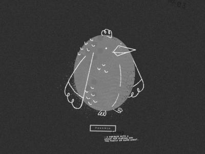 Pengwin penguin doodle texture design illustration