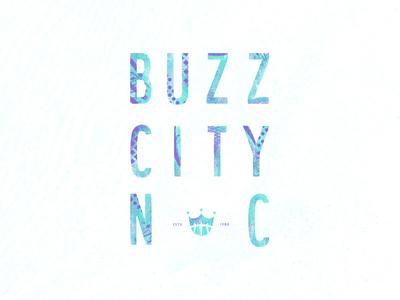 Buzz City, NC poster crown texture illustration design hornets charlotte hornets basketball buzz city north carolina charlotte