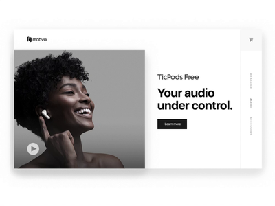 TicPods Free Art Direction sketch photoshop principle art direction clean design minimal product launch visual design video web web design