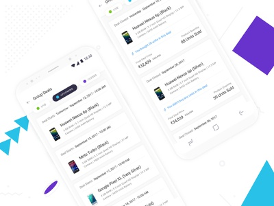 Upcoming and Closed Group Deals on Shotang App android app design ui ux mobile typography type blue white green sketch