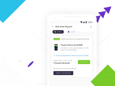 Introducing Bulk Order Requests on Shotang App sketch green white blue type typography mobile ux ui design app android