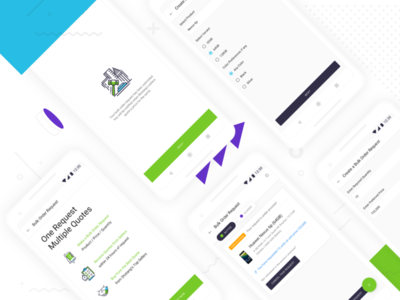 Questionnaire for Creating a Bulk Order Request on Shotang App sketch green white blue type typography mobile ux ui design app android