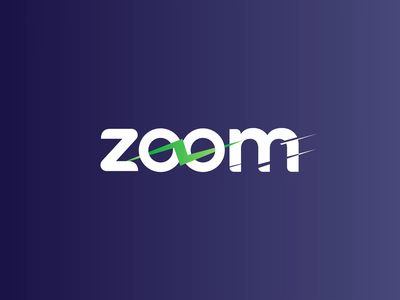 Let's Zoom car electric gif gradient animation after effects green zoom team debut video icon typography branding vector logo blue ui design
