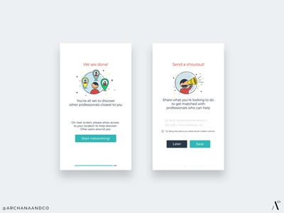 Onboarding Screens UI - Ohai location permission networking app onboarding illustration icons ui design design onboarding ui onboarding screen ui illustration