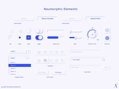 Neumorphic Elements biometric icons input fields toggle switches slider design buttons ui controls skeumorphic ui elements app ui design ui design ui neumorphism neumorphic