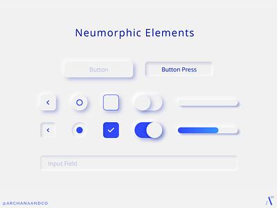 Neumorphic UI Elements exploration minimal buttons minimalist toggle ui ui designer uxui ui design ui controls ui elements neumorphism neumorphic