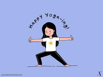 Happy Yoga Warrior