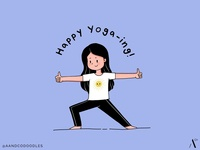 Happy Yoga Warrior