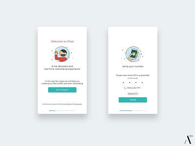 Onboarding UI - Ohai vector onboarding ui ui onboarding illustration icon design ui design onboarding screens