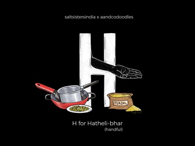 36daysoftype H hindi lettering lettering art 36days-h letter h gestures food and drink hand gestures 36daysoftype indian language typography alphabet illustration 36 days of type lettering