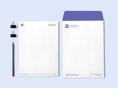 Rebranding - Cutting Chai Technologies monogram stationery corporate identity logo design rebranding branding and identity brand identity branding