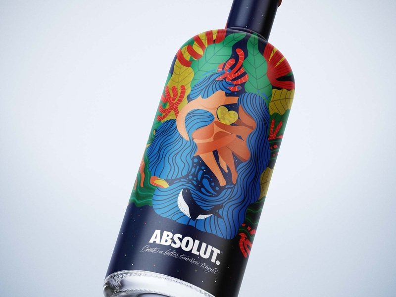 Packaging - Absolut Vodka illustration design love vodka packaging design packaging absolut food and drink illustration