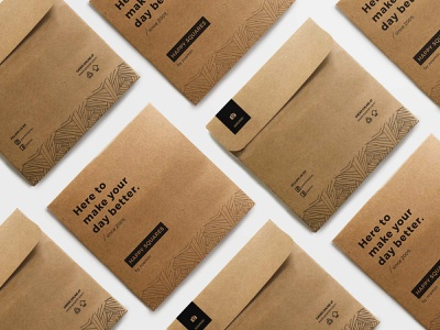Kraft Envelopes -  Zoomin typography brand design pattern design illustration kraft paper packaging packaging design
