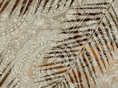 San-1647 70s inspired paisley lace