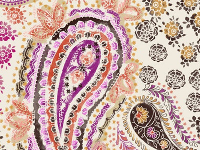 San 1906 paisley floral creativo surface design