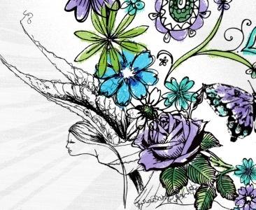 Hearts & Paisleys Forever hearts fairys paisleys butterflys ditsy florals