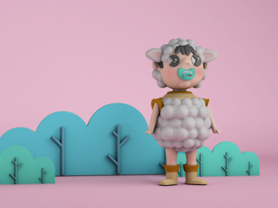 3D Baby Sheep