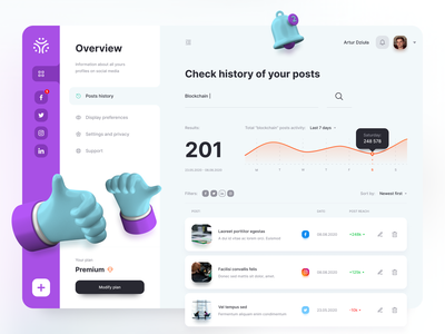 Dashboard dashboard app digital web card clean minimal design simple ui