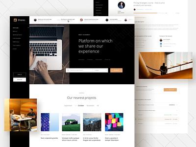 Shareo digital website web card ux clean minimal design simple ui