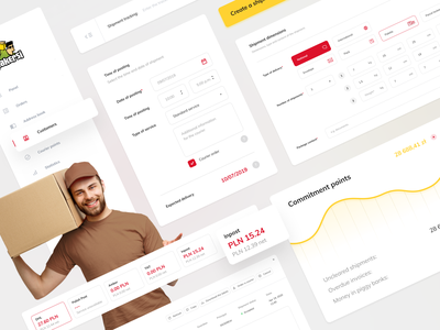 Pakersi UI Elements digital interface web ux app card minimal design simple ui