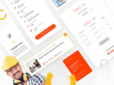 EWL - UI Elements website color web ux card clean minimal design simple ui