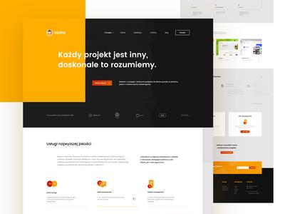 Web Agency yellow website web icon clean black redesign simple design app ux minimal ui