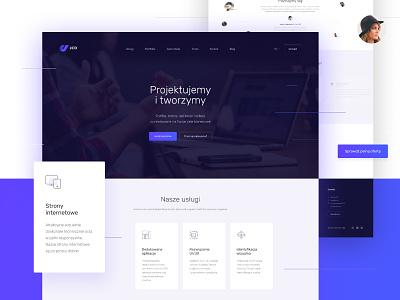JCD website lifting purple blue simple redesign branding daily graphic design digital color card white website web ux clean design minimal ui