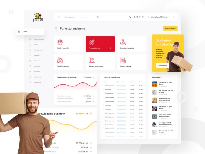 Pakersi Dashboard web card app color ux clean simple minimal design ui