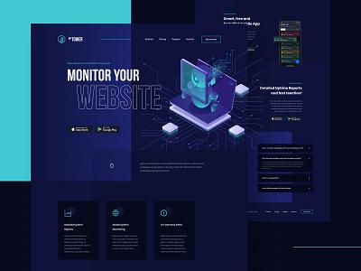 Monitor your website website web app color ux clean simple minimal design ui