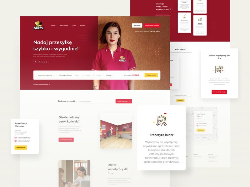 Pakersi website card website web ux color clean minimal simple design ui