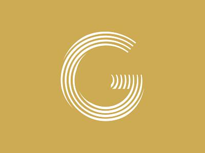 G logo tree rings organic branding abstract logo