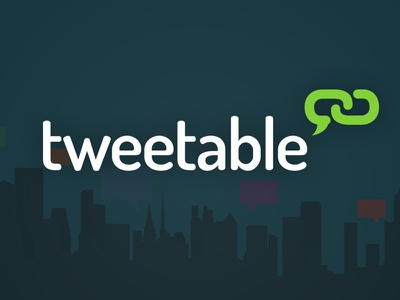 Tweetable Link tweetable link tweetable link logo url simple clean twitter