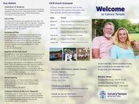 Church Welcome Tri-fold Brochure