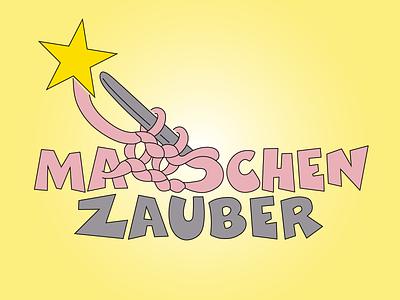 Maschenzauber 🧶 stitches magic logo knitting