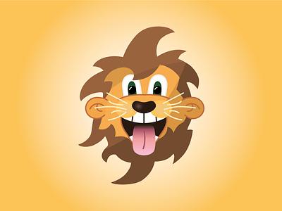 Gian the lion tongue lion head lion cartoon character cartoon comic comic animal