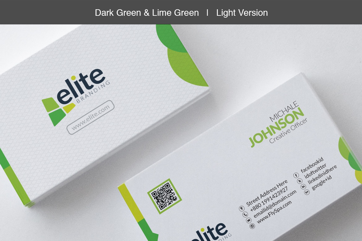 Contestdesign projects corporate business card templates dribbble 05 business card dark green and light green colourmoves
