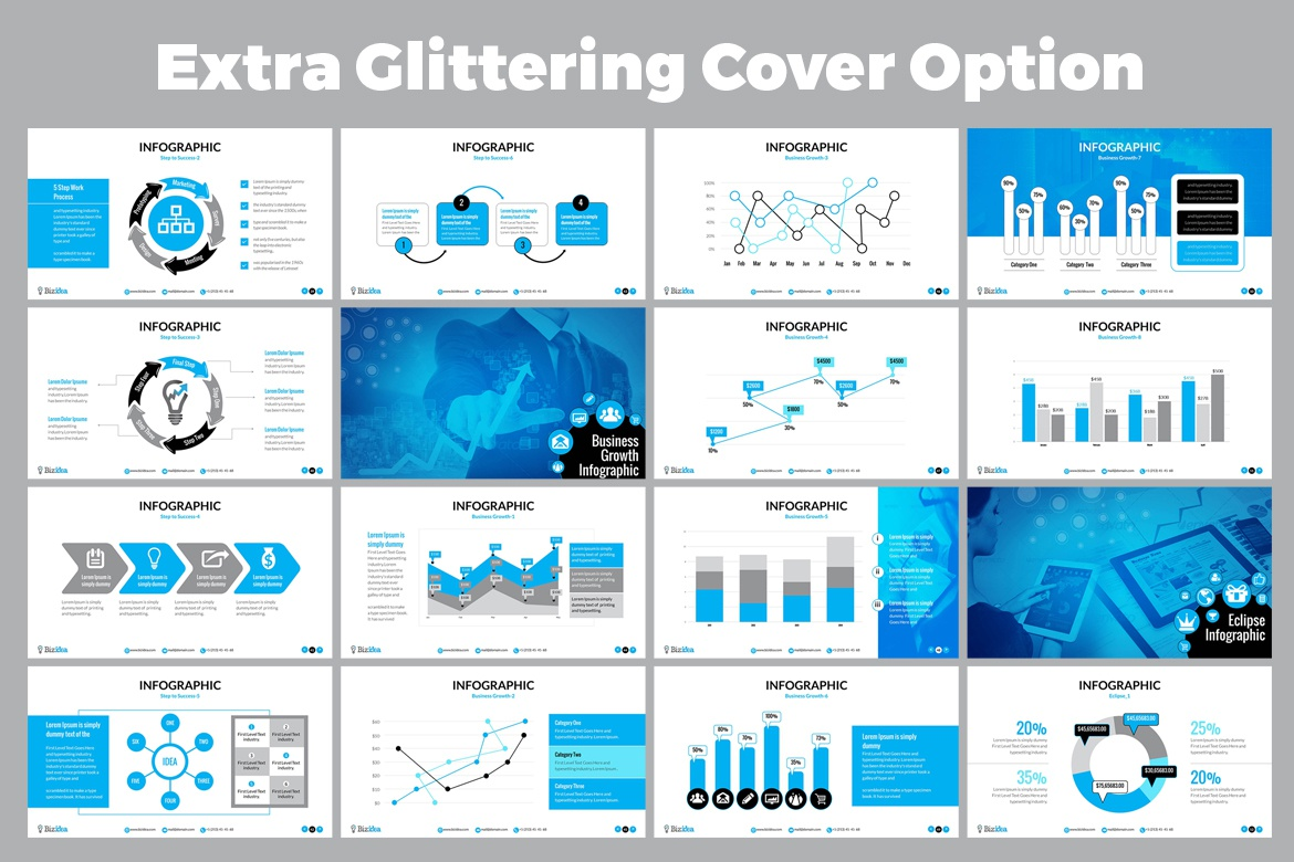 Contestdesign projects powerpoint presentation template dribbble 04 many option editable vector infographic powerpoint template toneelgroepblik Images