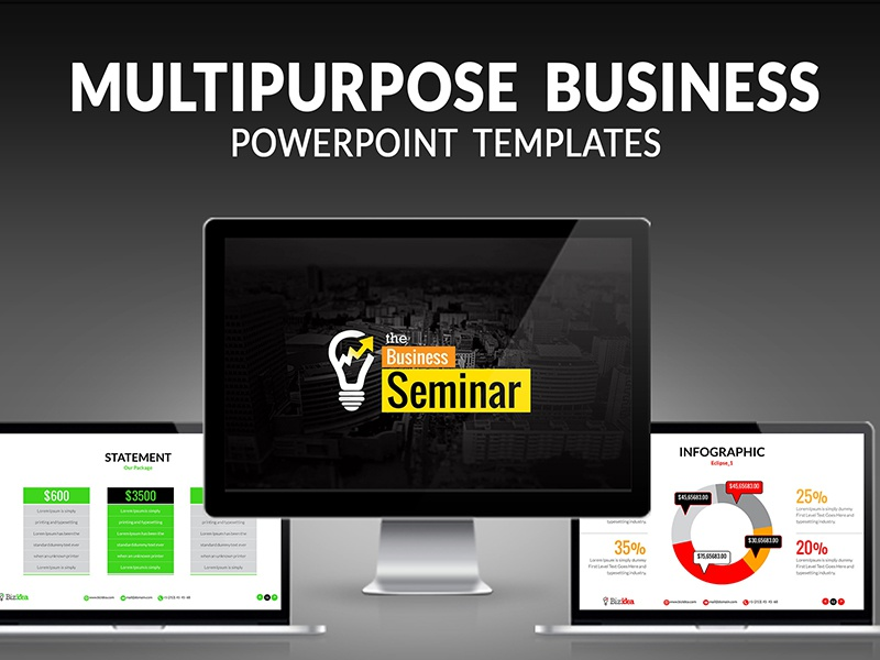 Multipurpose business powerpoint presentation template