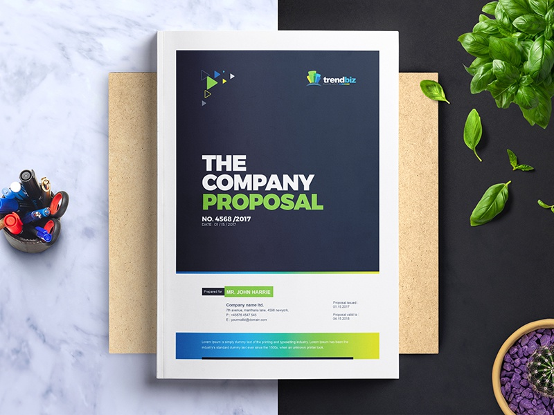 Corporate project proposal template by contestdesign dribbble corporate clean and creative business project proposal design template free download wajeb