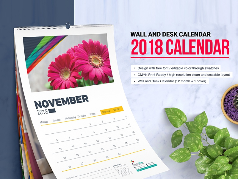 2018 wall and desk table calendar 12 month calendar monthly calendar yearly calendar table calendar calendar