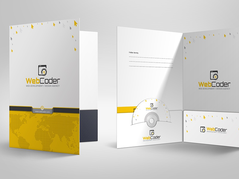 Presentation folder design template by contestdesign for Pocket folder template illustrator