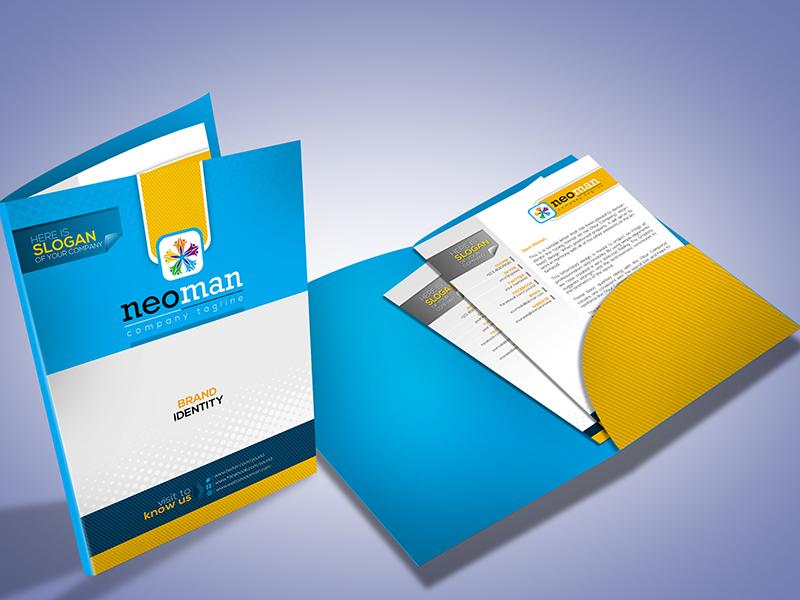 corporate presentation folder design by contestdesign dribbble